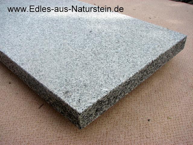 trittstufe granit geflammt grau f r aussen treppenstufe massiv treppe naturstein ebay. Black Bedroom Furniture Sets. Home Design Ideas