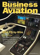 Business & Commercial Aviation Feb 2013 Cover