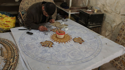 Mosaic art has a long history in Madaba, Jordan