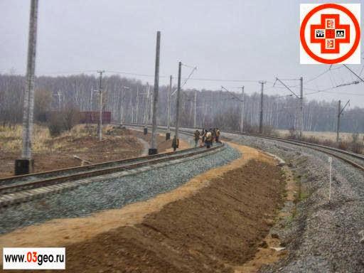 Фото выноса трассы в натуру, стоимость разбивки трассы и что такое геодезическая привязка трассы смотрите на странице http://www.03geo.ru/trans_12