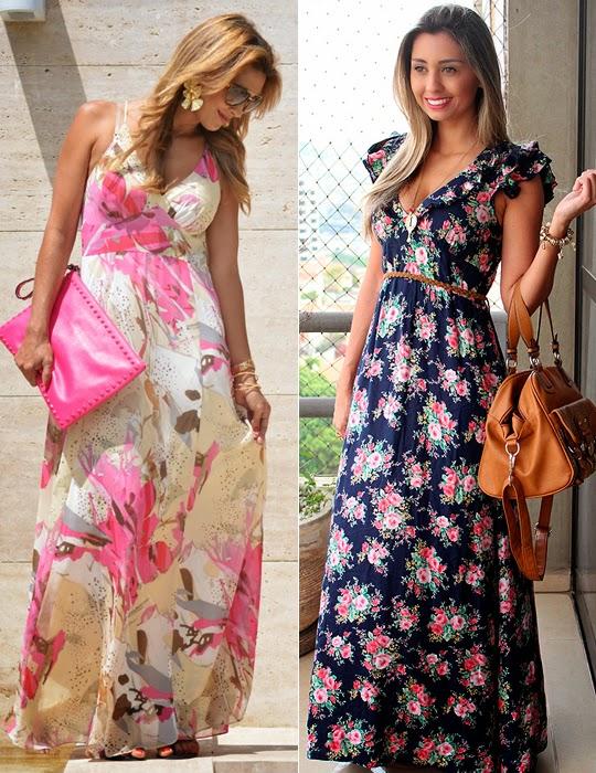 como usar vestido longo