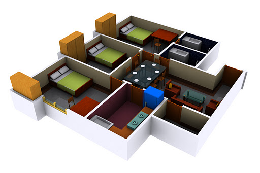 housing plan in 3d