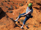 Traci rappelling
