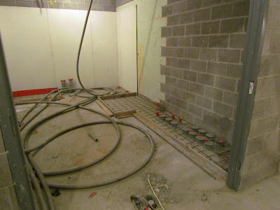 Prep for concrete pad for gear in main electrical room