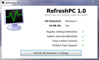Refresh PC Windows To Original Or Factory State