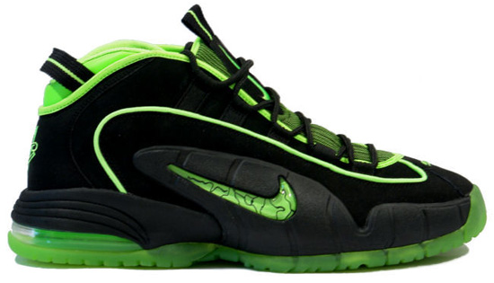 the latest a2825 68469 Nike Air Penny I - Black Electric Green