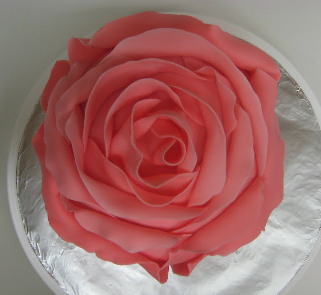 3D Rose Cake - Overhead View 1