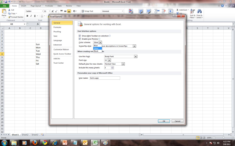 How To Change Default Grid Line Color In Excel 2010