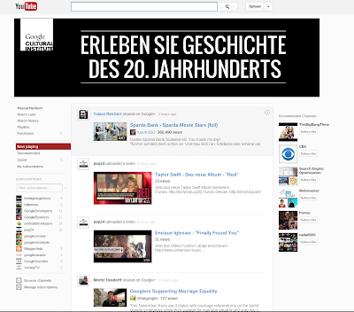 YouTube Design Test Oktober 2012