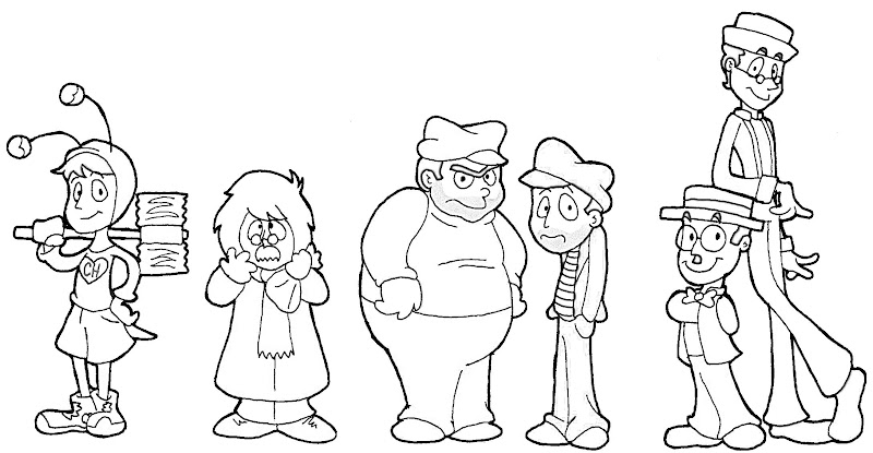 Chespirito characters coloring pages
