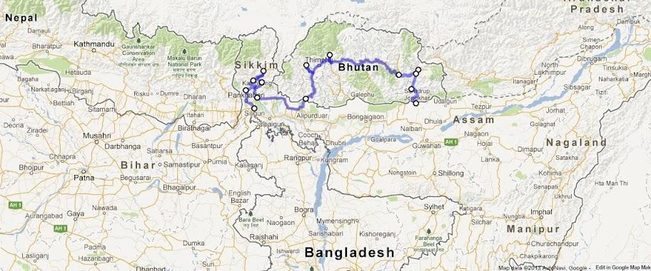 Himalaias ( Sikkim - Bhutan) 2013 Mapa%2520but%25C3%25A3o%252001