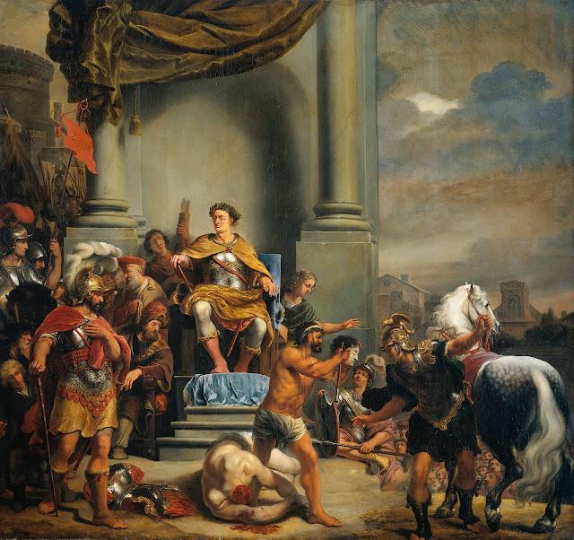 Ferdinand Bol - Consul Titus Manlius Torquatus Beheading His Son