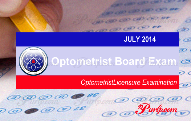 July 2014 Optometrist Board Exam Result