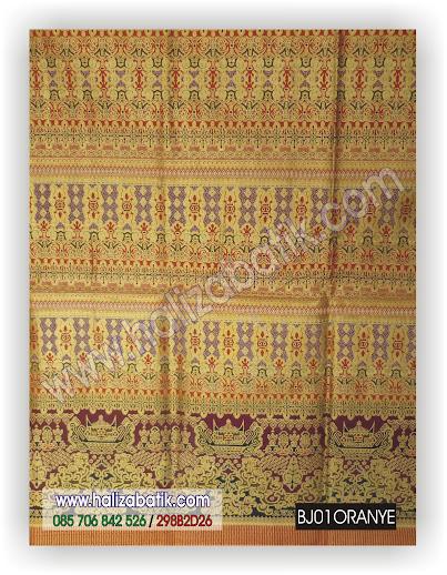 Batik Kerja, Batik Murah Online, Grosir Kain Batik, BJ01 ORANYE