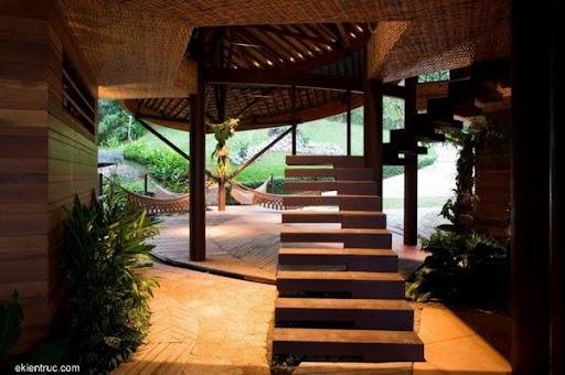 Leaf House 11 7 750x499 Kiến trúc nhà lá thú vị tại Brazil
