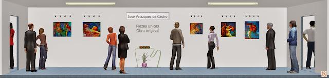 Sala de exposición virtual de pinturas de José Velázquez de Castro