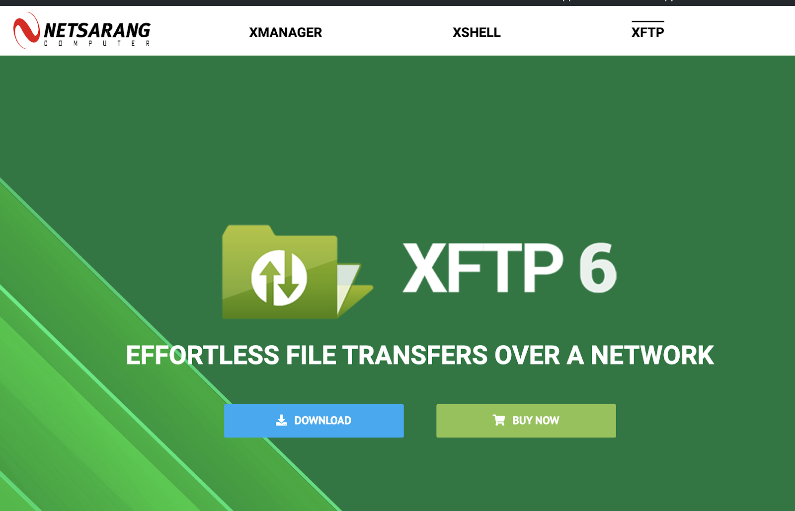 Netsarang XFTP 6 download page