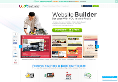 Webstarttoday.com free online website builders