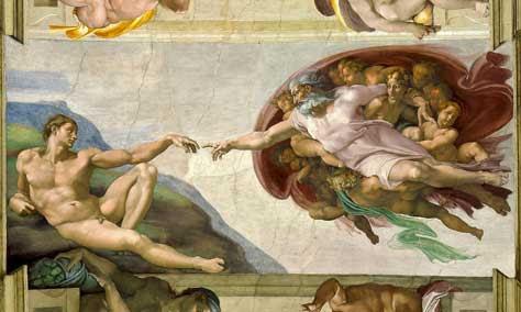 La creación de Adán o la chispa de la vida