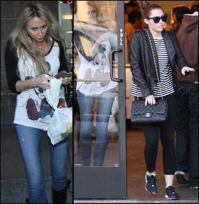 Mileys Mom in Mickey Tee
