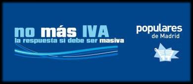 Campaña 'no mas IVA' (PP)