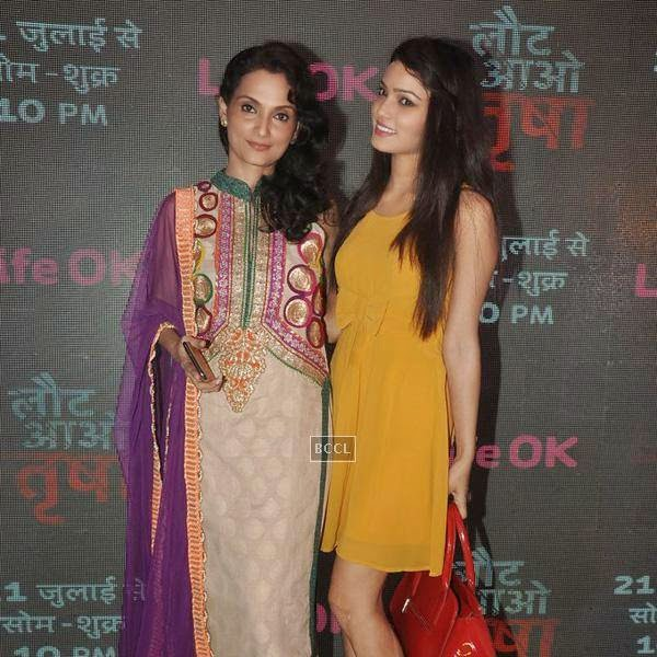 A still from the launch event of the TV serial Laut Aao Trisha, held at Westin Mumbai. (Pic: Viral Bhayani)