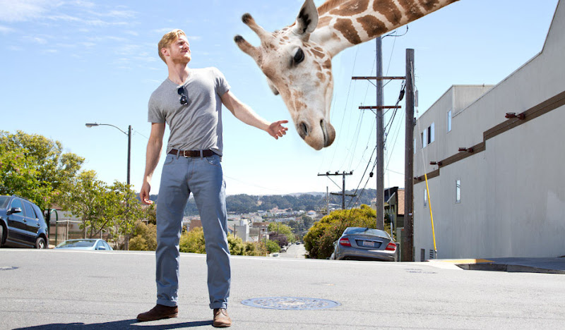 Light Blue SOBs Jared and giraffe