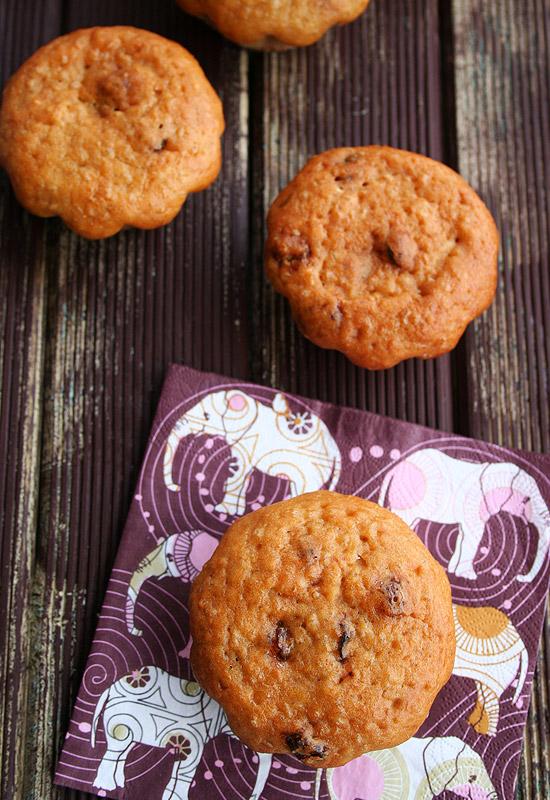 Muffins de quinoa y pasas