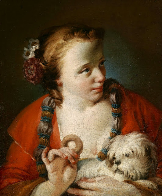 Giovanni Battista Piazzetta - Young woman with Dog