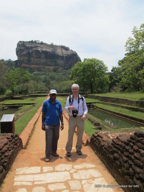 Jith and Colin at Sigiriya