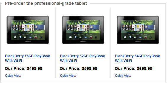 blackberry playbook price. The Blackberry Playbook, one of a fleet of tablet computers unveiled at this year#39;s 2011 Consumer Electronics Show. BlackBerry PlayBook Price Released,