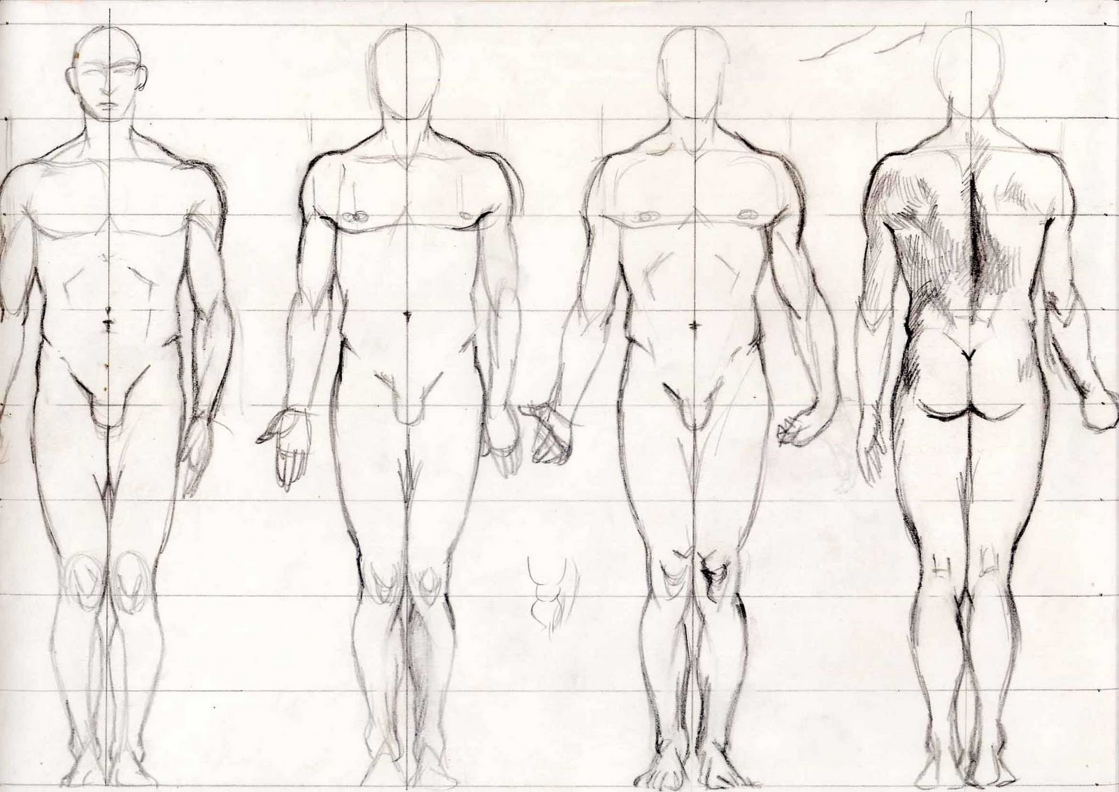 Steps On How To Draw Human Body Pencil Sketch