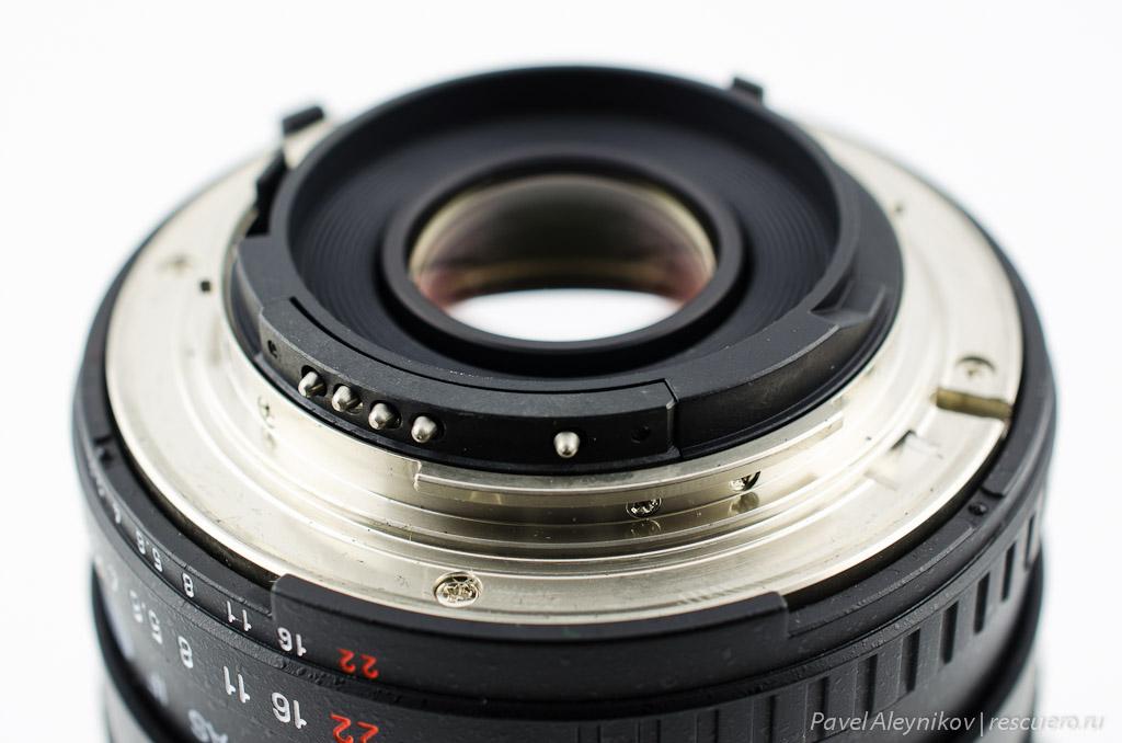 Контакты чипа Samyang 14mm