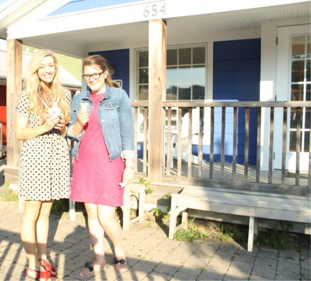 Pink Lace Dress, Dress and Jean Jacket, Polka Dot Dress