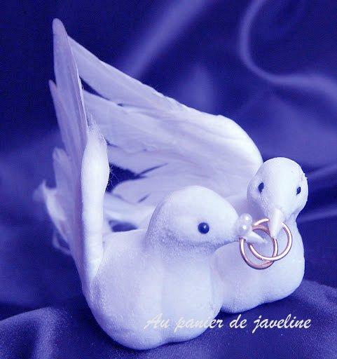 Deco colombe pour gateau de mariage