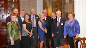Left to right Jeanne and Duncan MacVicar, Ralph and Kathy Adams, Dave LaRochelle, Susan and John Swensson, Buddy Bucha, and Bob Anderson and Patricia Bailey