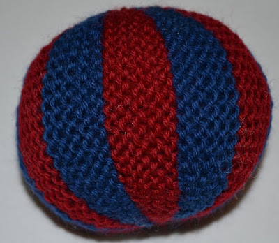Knit Balls Red and Blue