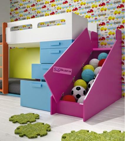 Tobogan que se abre para guardar cosas - Camas divertidas infantiles ...