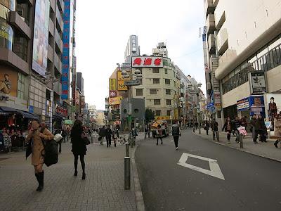 渋谷井の頭通りの交番あたり