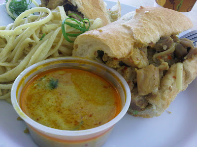 Malaysian Chicken Curry Banh Mi