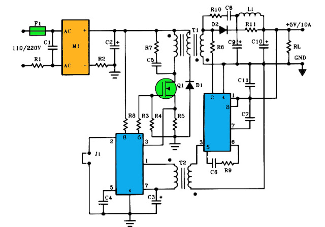 10A switching power supply