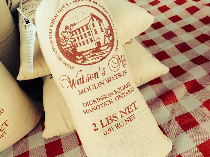 Whole wheat flour milled at Watson's Mill in Manotick