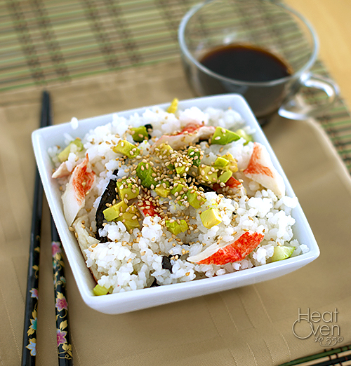 california roll sushi salad