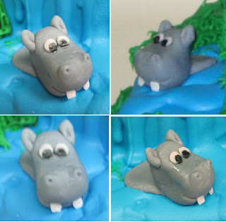 Jungle Animal Cake - Close-up Views of Hippo