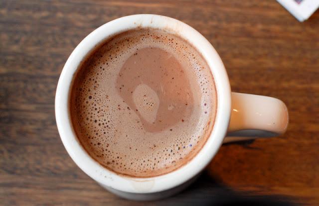 pinon coffee in mug in Santa Fe NM