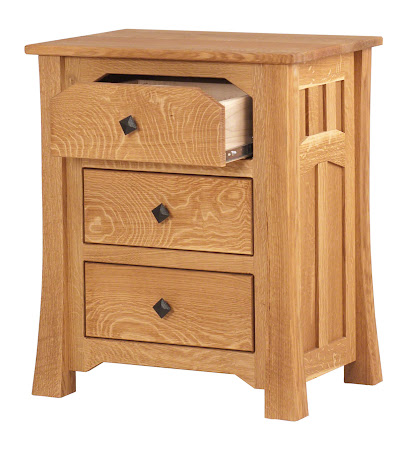 Edmonton Nightstand with Drawers, Oil & Wax Quarter Sawn Oak