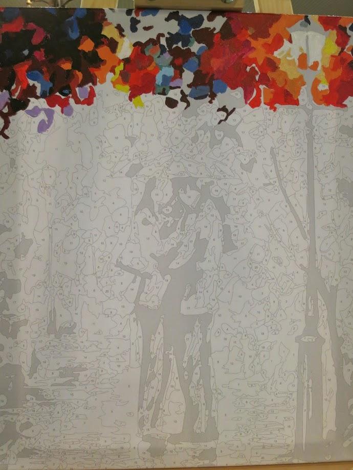 Раскраска Осенний поцелуй