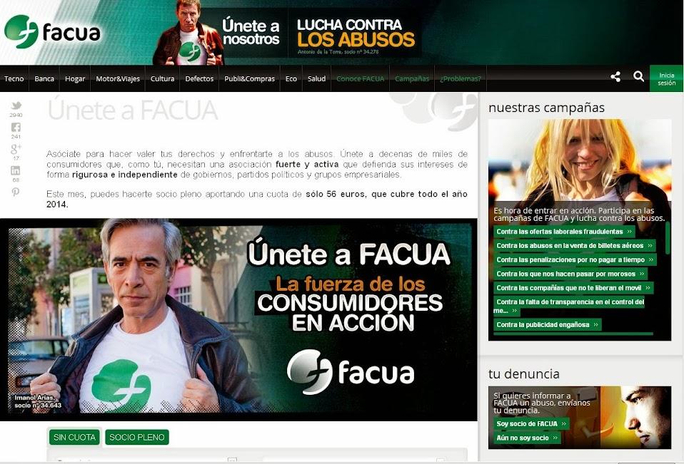 Página Web de FACUA