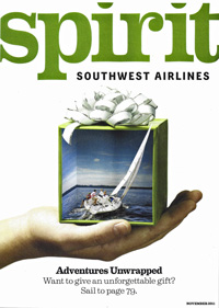 J/80 one-design sailboat- flying with Southwest Airlines SPIRIT magazine