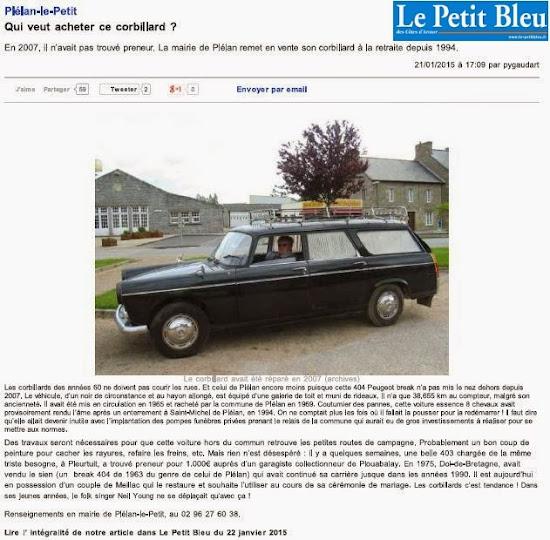 Article du Petit Bleu des Côtes d'Armor